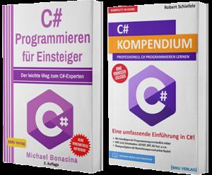 C# Programmieren für Einsteiger + C# Kompendium (Taschenbuch)