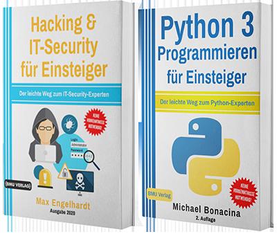 Hacking & IT-Security für Einsteiger + Python 3 Programmieren für Einsteiger (Taschenbuch)