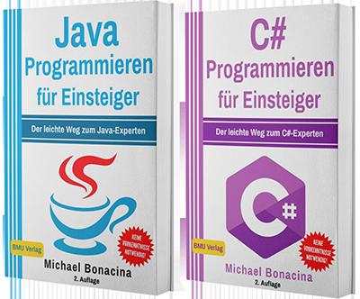 Java Programmieren für Einsteiger + C# Programmieren für Einsteiger (Taschenbuch)
