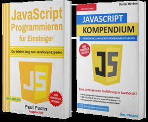 JavaScript Programmieren für Einsteiger + JavaScript Kompendium (Taschenbuch)