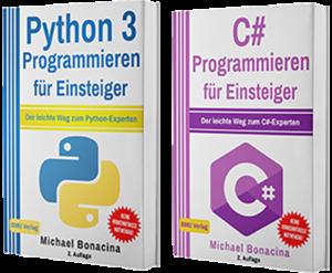 Python 3 Programmieren für Einsteiger + C# Programmieren für Einsteiger (Taschenbuch)