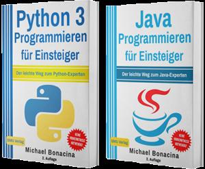 Python 3 Programmieren für Einsteiger + Java Programmieren für Einsteiger (Taschenbuch)