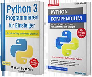 Python 3 Programmieren für Einsteiger + Python Kompendium (Taschenbuch)