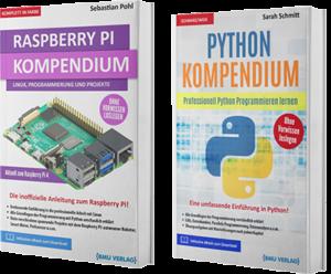 Raspberry Pi Kompendium + Python Kompendium (Hardcover)