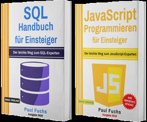 SQL Handbuch für Einsteiger + JavaScript Programmieren für Einsteiger (Taschenbuch)