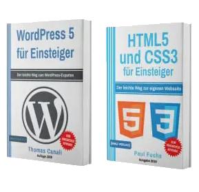 WordPress 5 für Einsteiger + HTML5 und CSS3 für Einsteiger (Taschenbuch)